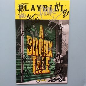 Cast Signed Playbill A Bronx Tale The Musical 2017
